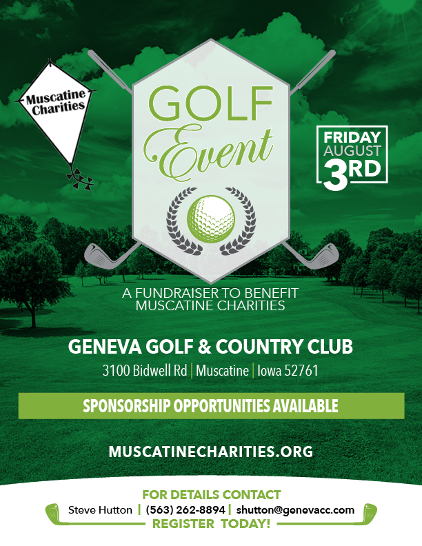 Muscatine Charities Golf Event August 3rd